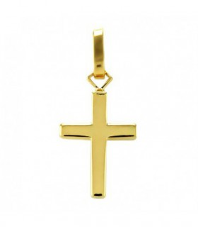 Cruz Lisa en Oro de 18k